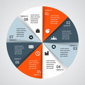 Gráfico de información vectorial moderno proyecto empresarial — Vector de stock