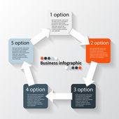 Modern vector info graphic for business project — Vector de stock