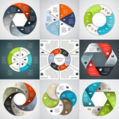Modern vector info graphic for business project — Vecteur