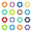 Circle arrows set — Stock Vector