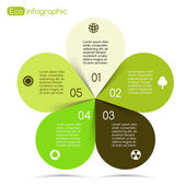 Modern vector info graphic for eco project — Vecteur