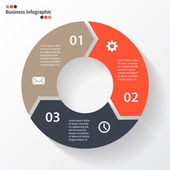 Circle arrows for your info graphic — Vecteur
