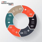 Circle arrows for your info graphic — Vector de stock