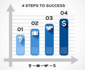 事業計画のための近代的なベクター情報グラフィック — ストックベクタ