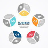 Modern vector info graphic for business project — 图库矢量图片