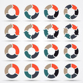 Vector circle arrows for business infographic, diagram, graph, chart. — ストックベクタ