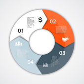 Vector circle diagram infographic for business presentation — 图库矢量图片