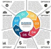 Wektor koło strzałki dla biznesu infographic. — Wektor stockowy