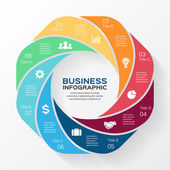 Vector circle business infographic. — Stock Vector