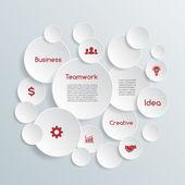 Vektor business infographic. — Stockvektor