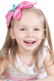 Picture of happy little girl over white — Stock Photo