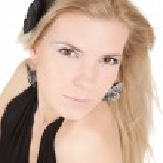Beautiful blonde girl on white background close-up — Stock Photo