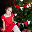 Lovely little girl at Christmas time — Stock Photo #16021481