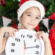Lovely little girl at Christmas time — Stock Photo #16021493