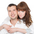 Happy smiling couple in love — Stock Photo