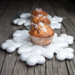 Snow Cake — Stock Photo