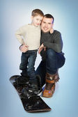 Lycklig far och lilla son — Stockfoto