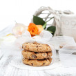 Stock Photo: Homemade chocolate chip cookies