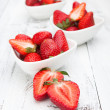 Fresh and tasty strawberries — Stock Photo