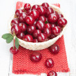 Fresh and tasty cherries — Stock Photo