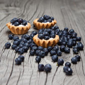 Mini tortas de blueberry — Fotografia Stock