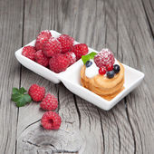 Raspberries mini cake — Foto Stock