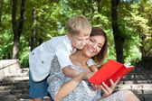Happy mother and little son — Stock Photo