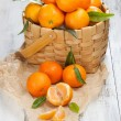 Tangerines with leaves — Stock Photo #38762861