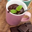 Hot chocolate with mint — Stock Photo #40526219
