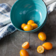 Stock Photo: Raw kumquats