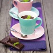 Hot chocolate with mint — Stock Photo #41092777