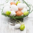 Easter eggs in a nest — Stock Photo #41092815