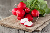Radish on a wooden table — Stock Photo