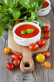 Tomato soup Gazpacho — Stock Photo