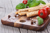 Italian grissini bread sticks — Stock Photo