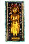 Socha buddhy na zeď — Stock fotografie