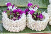 The pile of jasmine and globe amaranth flower — Stock Photo