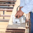 Working carpenter — Stock Photo
