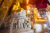 Statue of Buddha in thai temple — Stock Photo
