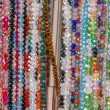 Colourful bead necklace — Stock Photo