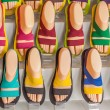 The stall of colourful sandals — Stock Photo #36575947