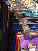 Clothes at market — Stockfoto