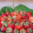 Stock Photo: Fresh red ripe strawberries