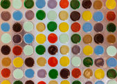 Kleurrijke cirkel op glas — Stockfoto