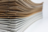 Stack of brown and white paper — Stock Photo