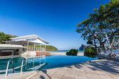 Swimming pool near beach — Stock Photo
