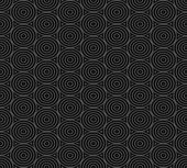 Seamless pattern of overlap black circles — Stock Vector