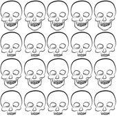 Seamless pattern of skull  — Stock Vector