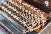 заделывают тайской клавиатуры — Стоковое фото