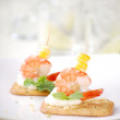 Royalty-Free Stock Photo: Closeup of delicious canape with shrimp or prawn